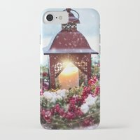 merry christmas iPhone & iPod Cases featuring Merry Christmas by UtArt
