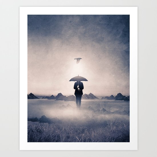 Waiting for the rain (colour option) Art Print