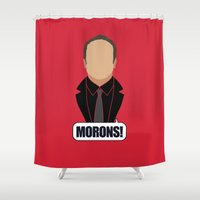 crowley Shower Curtains featuring 4 Crowley by Alice Wieckowska