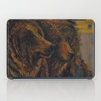 bears iPad Cases featuring Bears by lyneth Morgan