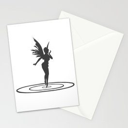 Elf with water rings black, fantasy, fairy, fantasy fan Stationery Cards