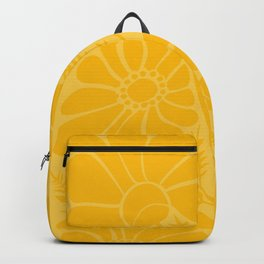 Yellow Floral Backpack