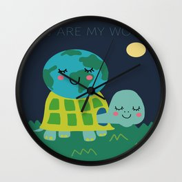 You Are My World Wall Clock