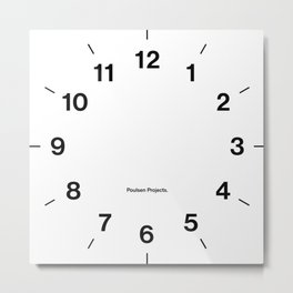 Time Clock Metal Print