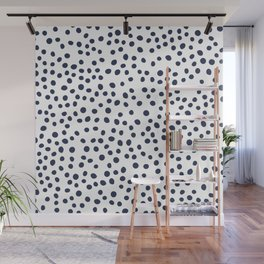 Dark blue vector doodle circle dot Wall Mural