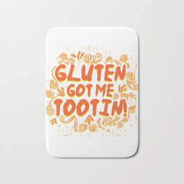 Gluten Free Funny Allergy Got Me Tootin product Gift Bath Mat
