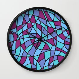 Curved Mosaic 02 Wall Clock