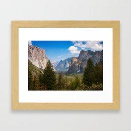 Bridalveil Fall Landscape, Yosemite Framed Art Print
