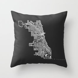 CHICAGO MAP Throw Pillow
