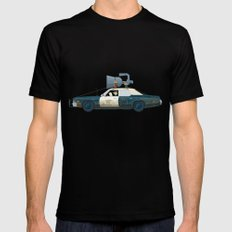 The Blues Brothers Bluesmobile 2/3 Mens Fitted Tee MEDIUM Black