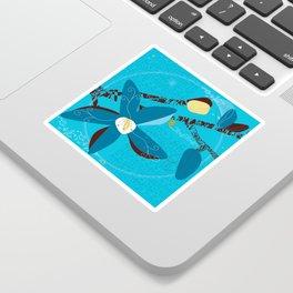 Blue Saucer Magnolia Sticker