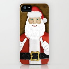 Thumbs (the Santa Claus edition) iPhone Case