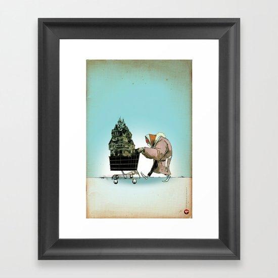 "Glue Network Print Series ""Homelessness"" Framed Art Print"