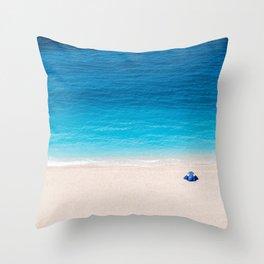 Alone On The Beach Throw Pillow