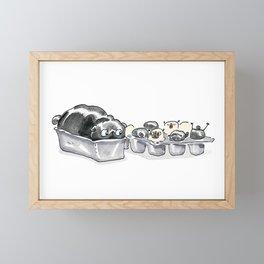 Pugcakes & Puppymuffins - Pug Cupcakes Framed Mini Art Print