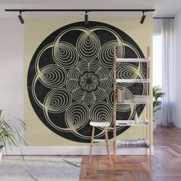 Antique Spiral Geometry Wall Mural