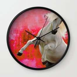 White Horse Red Soul Wall Clock