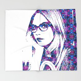 Cara in the city Throw Blanket