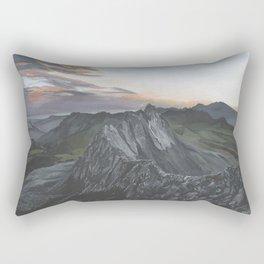 Sunset Over Heisshorn Peak Original Landscape Art Rectangular Pillow