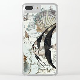 Old Map Clear iPhone Case