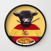 spanish Wall Clocks featuring The Spanish by Dano77