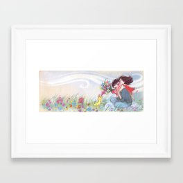 "Mom and Celeste // illustration from ""Once Upon A Cloud"" Framed Art Print"