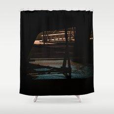 Night bow Shower Curtain