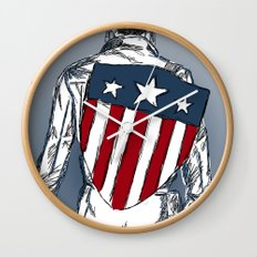 Captain America (Chris Evans) Wall Clock