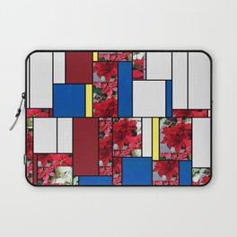 Mixed color Poinsettias 1 Art Rectangles 4 Laptop Sleeve