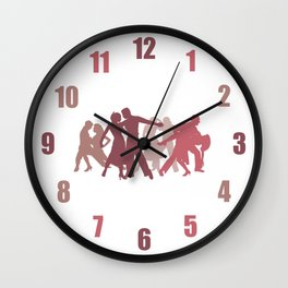 Latin Dancers Illustration Wall Clock