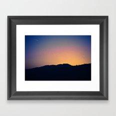 Malibu Hills Silhouette Framed Art Print