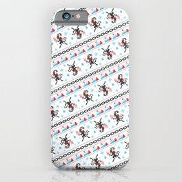 KRAMPUS PATTERN (White) iPhone Case