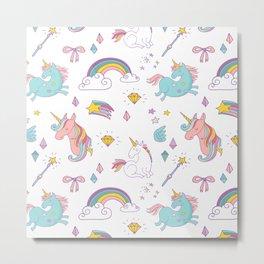 Magic Unicorns Metal Print