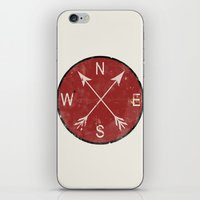 compass iPhone & iPod Skins featuring Compass by Duke Dastardly