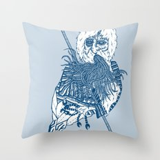 killer beard brah! Throw Pillow
