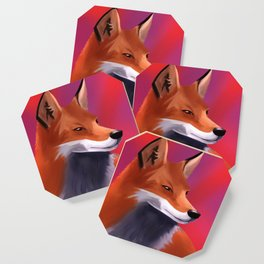 Fox Painting Coaster