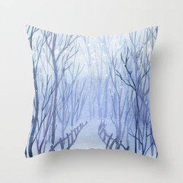 Winter scenery #3 Throw Pillow