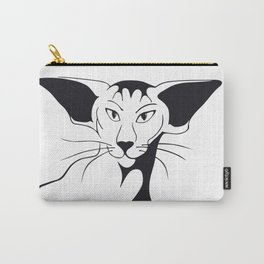 Mean look with a gentle heart Carry-All Pouch