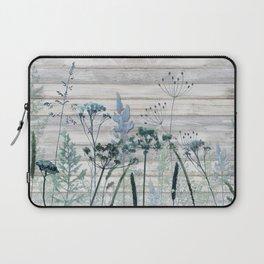 Rustic Barn Wood Series: Decorative Wild Grass Laptop Sleeve