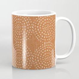 African, Spotted, Mudcloth, Terracotta, Wall Art Boho Coffee Mug