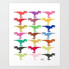 Dinomania E Art Print