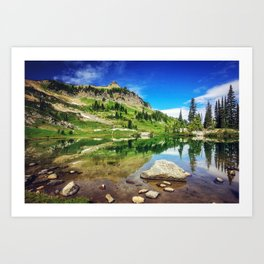 Clear Mountain Lake Reflections Art Print
