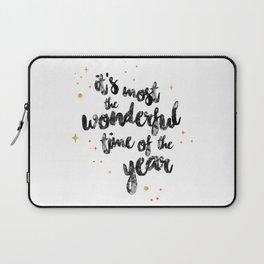 Christmas Happy Quote Laptop Sleeve