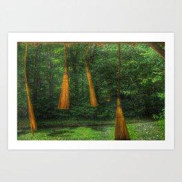 Handmade Brooms Art Print