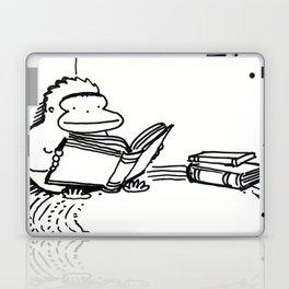 Ape on a Rug Enjoys a Book Laptop & iPad Skin