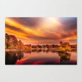Sunset over Jamaica Pond Canvas Print