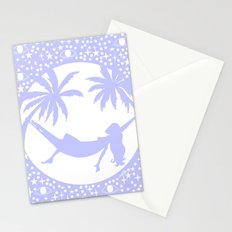 full moon summer nights Stationery Cards