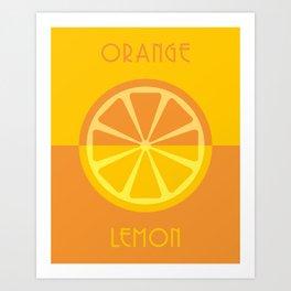 orange / lemon Art Print