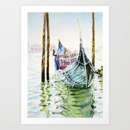 Gondola on the Lagoon Art Print
