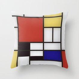 Piet Mondrian Throw Pillow